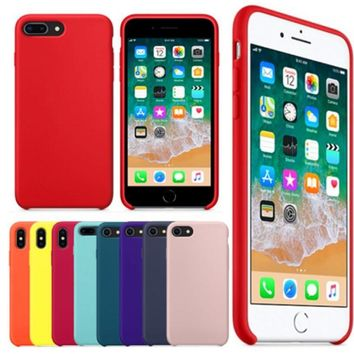 With LOGO Original Style Silicone Case For iphone 7 8 For Apple 6522ae704