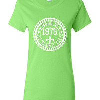Made in 1975 All Original Parts Tshirt. 40th Birthday Shirt.  Funny Birthday Tshirts. Ladies and Mens Unisex Styles. Makes A Great Gift.
