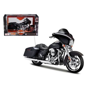 2015 Harley Davidson Street Glide Black 1/12 Motorcycle Model by Maisto
