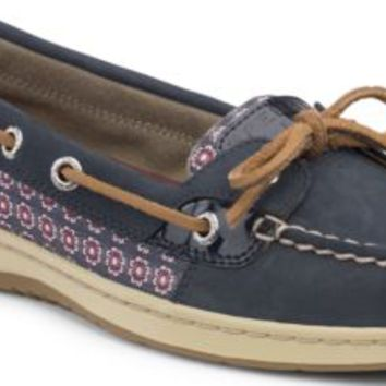 Sperry Top-Sider Angelfish Slip-On Boat Shoe Navy/Foulard, Size 8M  Women's Shoes