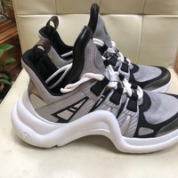Louis Vuitton LV Archlight Silver White SS18 Lace Up Flat Trainer Sneaker 38