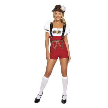 Low Price Women Beer Stein Babe Lederhosen Bar maid Fancy Dress German Oktoberfest Festival Halloween Costume