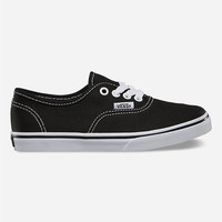 Vans Authentic Lo Pro Girls Shoes Black  In Sizes