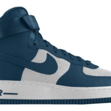 Nike Air Force 1 High iD Custom Men's Shoes - Blue