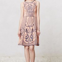 Embroidered Filligree Dress by Champagne & Strawberry Pink