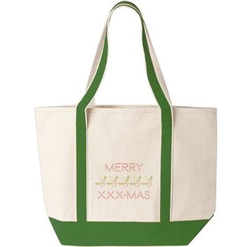 Merry Christmas Filthy Animal Animal Tote Bag
