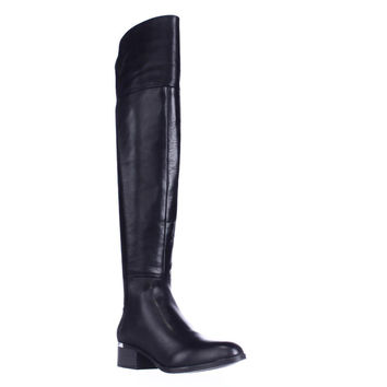 B35 Rene Over The Knee Boots, Black, 5 US