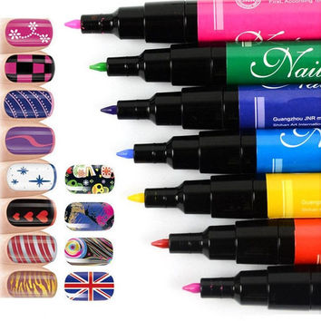 Nail Art Pen Painting Design Tool 12 Colors