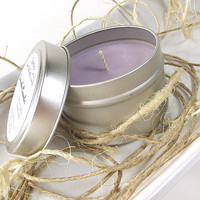 Lavender Cucumber scented Soy Candle Tin - Scented Soy Candle -- 4 ounce Tin