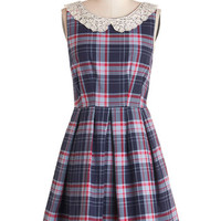 ModCloth Scholastic Mid-length Sleeveless A-line Proficiently Posh Dress