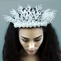 Ice Princess Tiara - New Year's Eve, Crown, Winter, Snow Queen, Princess Crown, Snowflake, Costume, Ice Crown, White, Winter Woodland, Crown