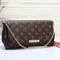 Louis Vuitton LV Popular Women Shopping Leather Metal Chain Crossbody Satchel Shoulder Bag(3-Color) I-LLBPFSH