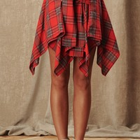 Stand Out Plaid Skirt (Red)