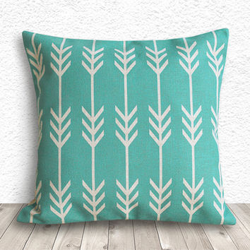 Decorative Pillows, Pillow Covers, Geometric Pillow Cover, Throw Pillows, Linen Pillow Cover 18x18 - Printed Arrow Geometric - 150