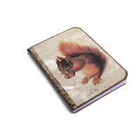 Mini Squirrel Notebook, Woodland Journal, Vintage Style Jotter, Red Squirrel Small Journal, Squirrel Gifts, Nature Journal
