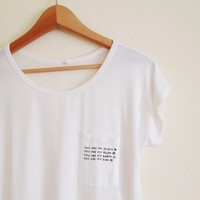 Andrea You Are My... White Pocket Tee