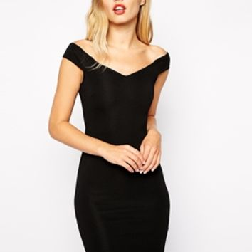 Warehouse Bardot Body-Conscious Dress