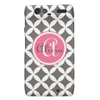 Slate Monogrammed Nico Print Motorola Droid RAZR Cases from Zazzle.com