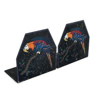 Handpainted Parrot Metal Bookends