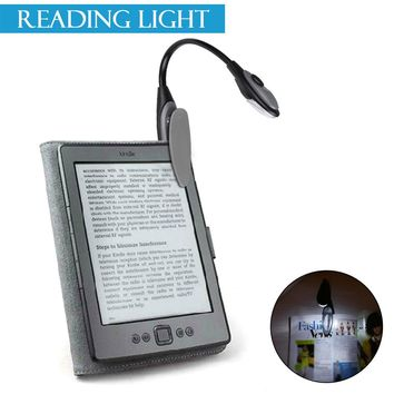 Mini Foldable Portable LED Reading Lamp Night Light Clip-on Battery Operated for Home Camping Fishing Hiking Outdoor