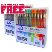 Set of 48 GEL PENS For Adult Coloring Books