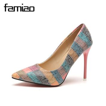 Women pumps party shoes super high heel pointed toe