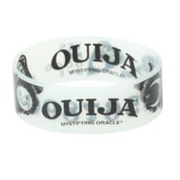 Ouija Glow-In-The-Dark Reversible Rubber Bracelet
