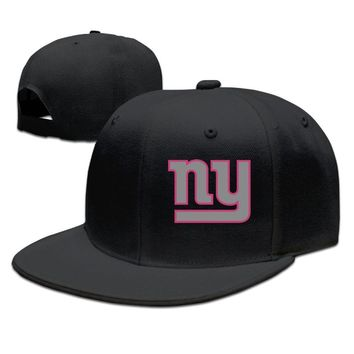New York Giants Breast Cancer Awareness Team Travel Performance Printed Unisex Adult Womens Baseball Hats Mens Hip-hop Hat