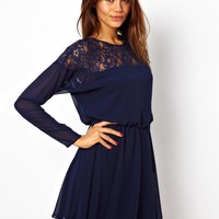 ASOS Lace Batwing Skater Dress