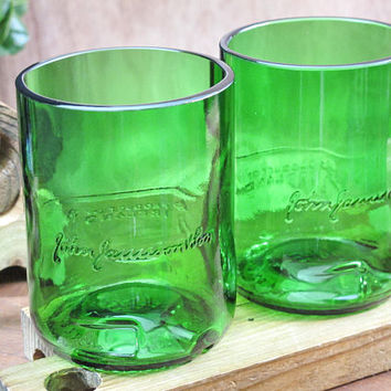 eco-friendly gift idea for men jameson irish whiskey rocks glass set of 2 3rd anniversary birthday retirement wedding scotch dad boyfriend