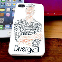 Tobias Eaton Typography Divergent Case For iPhone 4/4s iPhone 5s/5c and Samsung Galaxy S3/S4