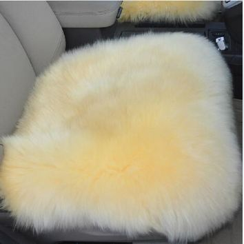 Supply New winter Car Wool Cushion Car Seat Cover Plush Seat Pad Wool Mat Used in Home and Office