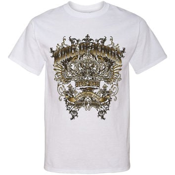 KING OF KINGS Crest Screen Print T Shirt Christian Inspirational Spiritual Religious Tee...Free Shipping!!