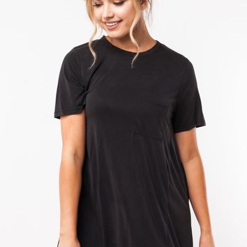To a Tee T-Shirt Dress in Black