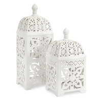 One Allium Way Lissie 2 Piece Ceramic Lantern Set