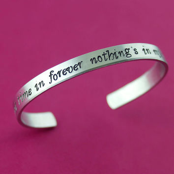 For the First Time in Forever Cuff Bracelet - Frozen Inspired Bracelet - Disney