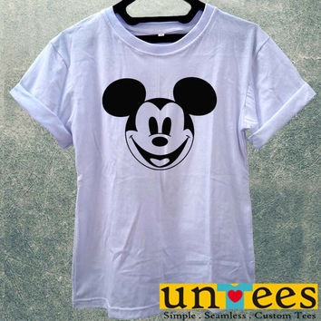 Cute Disney Mickey Mouse Face Women T Shirt