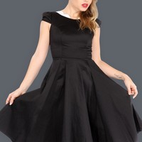 Black Wednesday Swing Dress