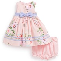 Laura Ashley Floral Print Dress & Bloomers (Baby Girls)
