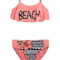 Beach Flounce Bikini Swimsuit | Girls Bikinis Swimsuits | Shop Justice