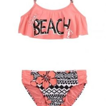 Beach Flounce Bikini Swimsuit | Girls Swimsuits Swim | Shop Justice