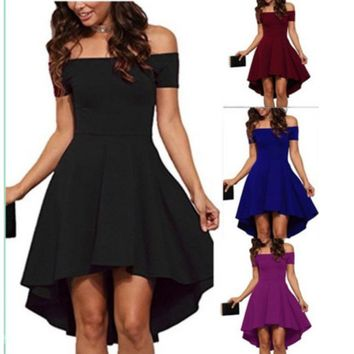 Women's Fashion Short Sleeve One Piece Dress [2070459875382]