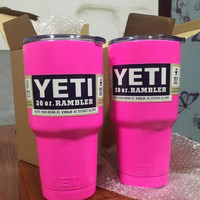 Pink YETI Tumbler Rambler Cups Yeti Coolers Cup 30 oz Yeti Sports Mugs Large Capacity Stainless Steel Travel Mug