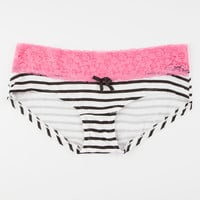 Lace Striped Boyshorts | Panties
