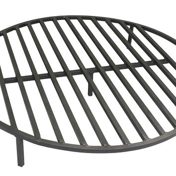 "Round Fire Pit Grate 28"" Heavy Duty Grill Cooking Campfire Camp Ring 1/2"" Steel"