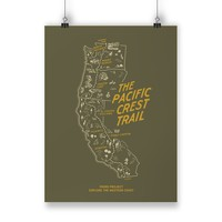 Pacific Crest Trail Woodland Poster