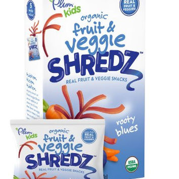 Plum Kids Organic Fruit and Veggie Shredz, Rooty Blues, 5 Count
