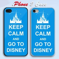 Keep Calm And Go To Disney Custom iPhone 5 Case Cover