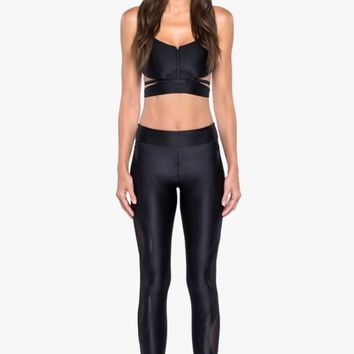 Stance Mesh High Rise Leggings - Black
