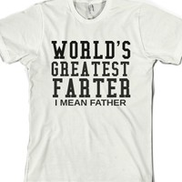 White T-Shirt | Funny Father's Day Gifts Shirts